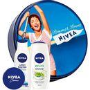 Kit-Nivea-Lotion-Express-200ml---Sabonete-Liquido-Erva-Doce-250ml---Creme---Lata-Vintage