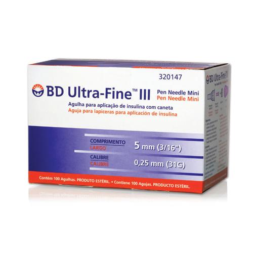 Agulha Insulina BD Ultra - Fine 5mm 100 Unidades