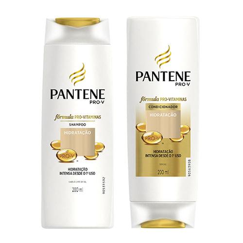 Kit Pantene Hidratação Intensa Shampoo 200ml + Condicionador 200ml
