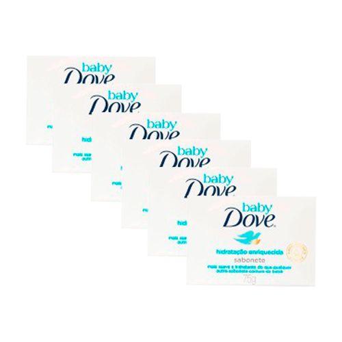 Kit-Sabonete-em-Barra-Dove-Baby-Hidratacao-Enriquecida-75g-6-Unidades-Pacheco-9001173