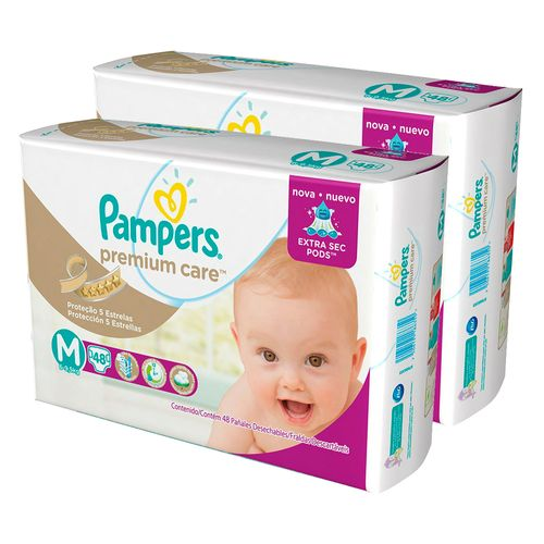 Kit-Fralda-Descartavel-Pampers-Premium-Care-M-96-Unidades-Pacheco-9001318