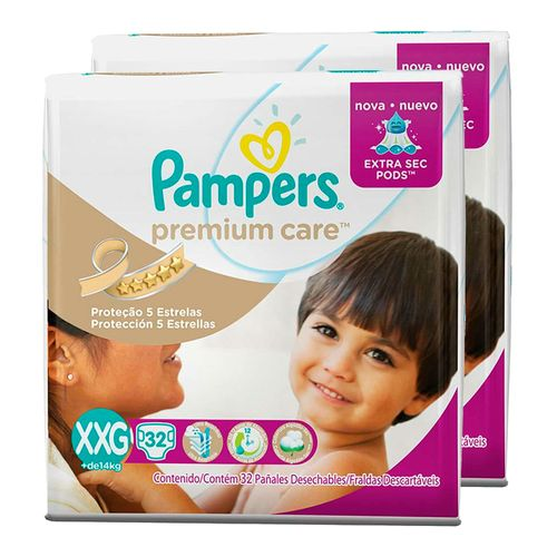 Kit-Fralda-Descartavel-Pampers-Premium-Care-XXG-64-Unidades-Pacheco-9001327