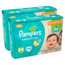 Kit-Fralda-Descartavel-Pampers-Confort-Sec-M-88-Unidades-Pacheco-9001330