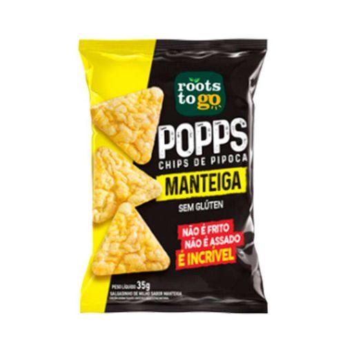 Chips De Pipoca Rootstogo Popps Manteiga 35gr