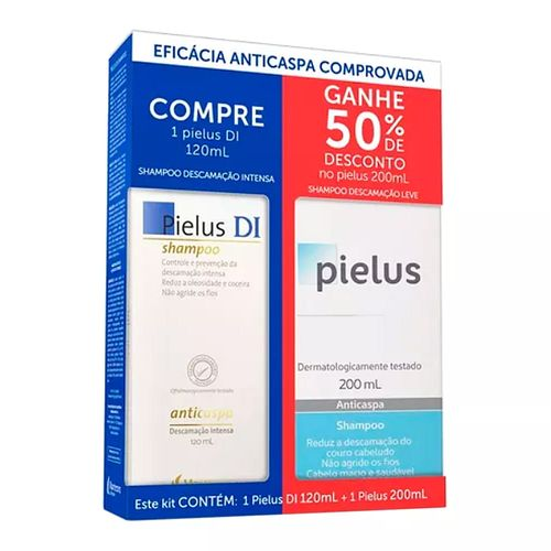 Kit Mantecorp Shampoo Anticaspa Pielus Di 120ml + Shampoo Pielus 200ml