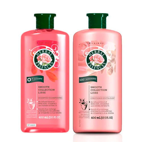 Kit Herbal Essences Smooth Collection Lisse Euroart Shampoo 400ml + Condicionador 400ml