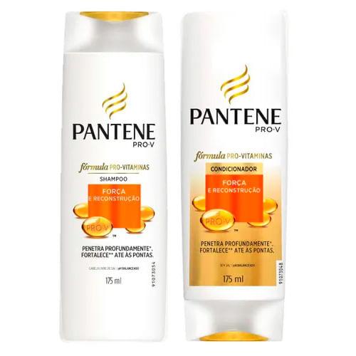 Kit Pantene Força e Reconstrução Shampoo 175ml + Condicionador 175ml