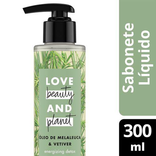 Sabonete Líquido Love Beauty & Planet Mãos e Corpo Óleo de Melaleuca & Vetiver 300ml