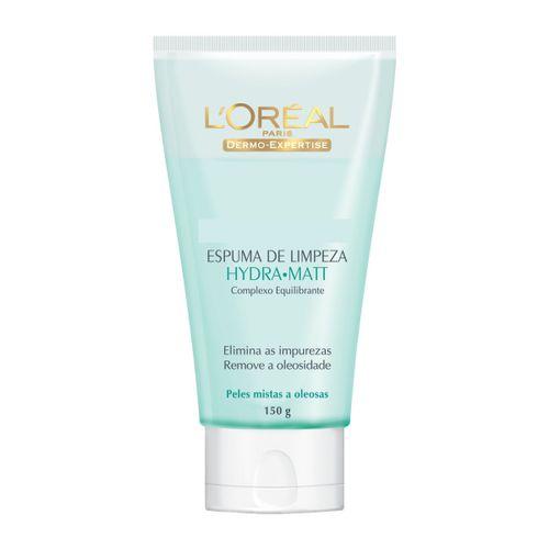 Espuma-De-Limpeza-Dermo-Expertise-Hydra-Matt-L'Oreal-150g