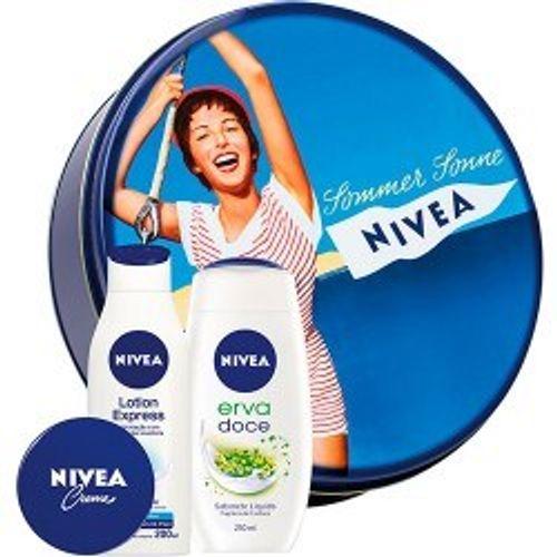 Kit-Nivea-Locao-Hidratante---Sabonete-Liquido---Creme---Lata-Vintage