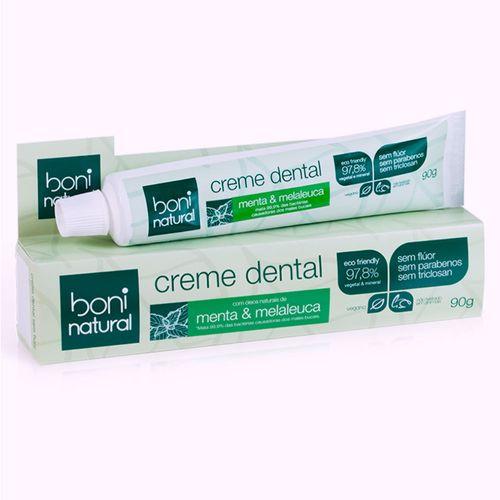 Creme-Dental-Boni-Natural-Sem-Fluor-Menta---Melaleuca-90g