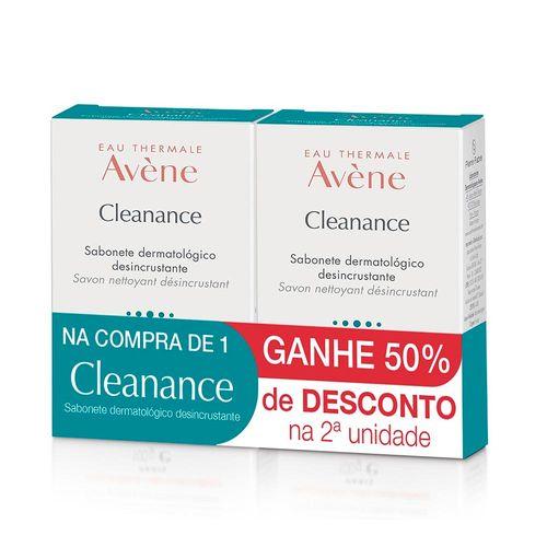 Kit-Avene-Cleanance-Sabonete-Desincrustante-80g-2-Unidades-Pacheco-610038
