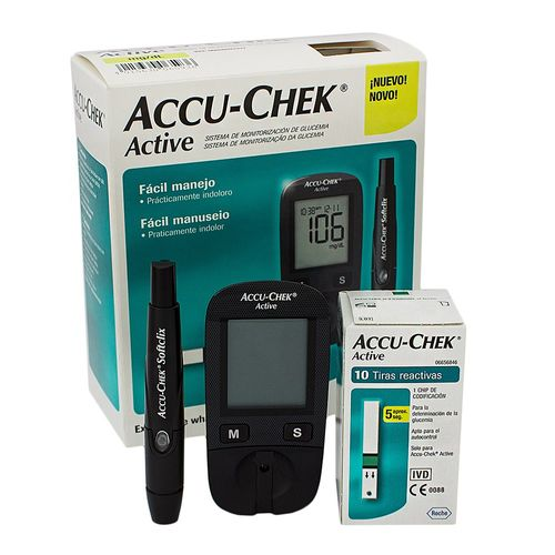 Kit Medidor De Glicose Active Accu - Check