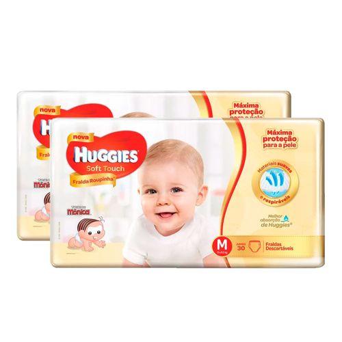 Kit-2-Fraldas-Descartaveis-Huggies-Soft-Touch-Jumbo-M-Drogarias-Pacheco-9031636