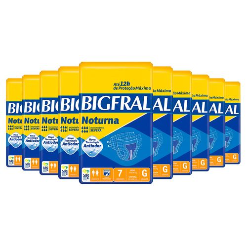 Kit-10-Fralda-Geriatrica-Bigfral-Noturna-Grande-70-Tiras-Drogaria-SP-9033023
