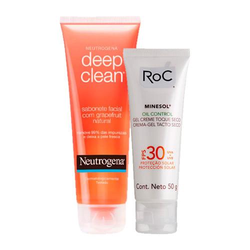 Kit-Protetor-Solar-Roc-Minesol-Oil-Control-FPS-30-50g-Ganhe-Sabonete-Facial-Neutrogena-Deep-Clean-80g-Drogarias-Pacheco-9049120