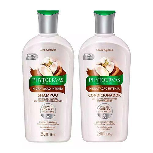 Kit-Phytoervas-Hidratacao-Intensa-Coco-e-Algodao-Shampoo-250ml---Condicionador-250ml-Pacheco-9049157