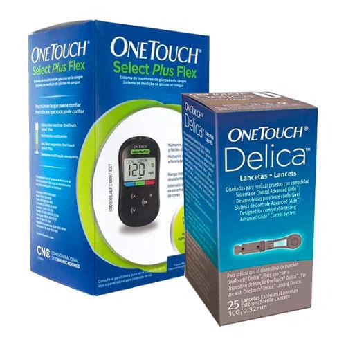 Kit-OneTouch-Aparelho-Medidor-Select-Plus-Flex-Ganhe-Lanceta-Delica-25-Unidades-Pacheco-9051082