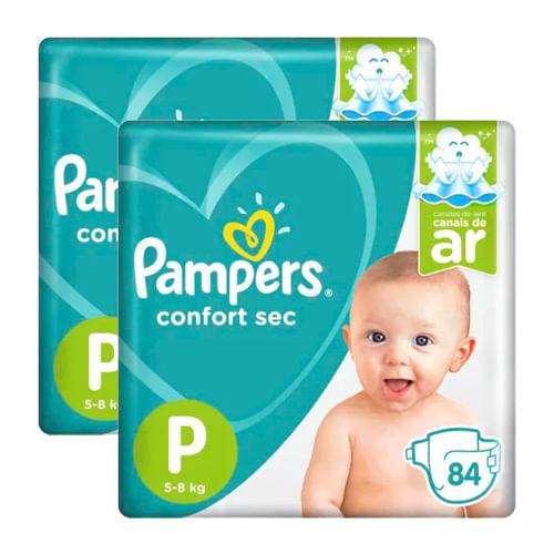 Kit-Fralda-Descartavel-Pampers-Confort-Sec-Bag-Giga-P-168-Tiras-Drogarias-Pacheco-9057731