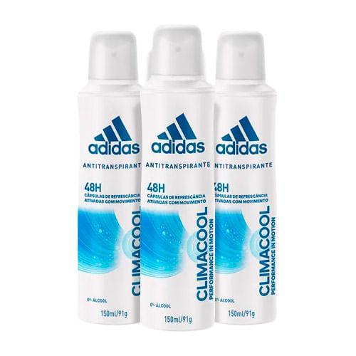 Kit-Desodorante-Adidas-Aerosol-Climacool-Feminino-150ml-3-Unidades-Pacheco-9057785