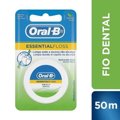 dde839f6e Fio Dental Oral-B Essential Floss Encerado Menta 50m - Drogarias Pacheco