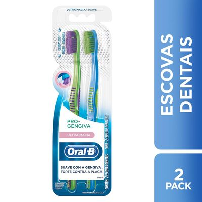 960daea31 Kit Escova Dental Oral-B Pro-Gengiva Ultra Macia 2 Unidades ...