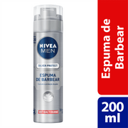 Espuma-de-Barbear-Nivea-For-Men-Silver-Protector-200ml-Drogarias-Pacheco-312541_1