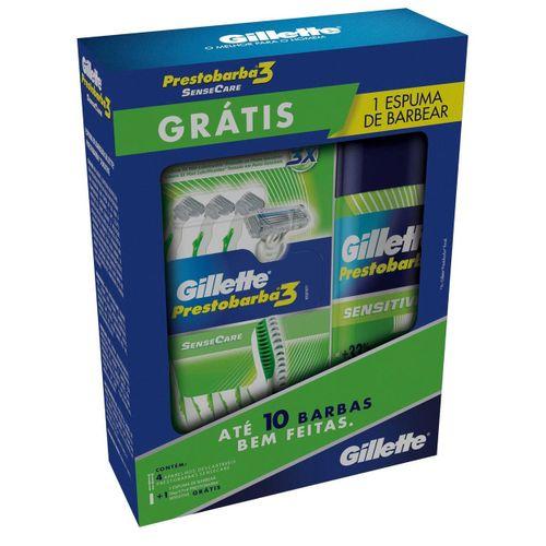 kit-gillette-aparelho-de-barbear-prestobarba-3-sensecare-4-unidades-gratis-espuma-de-barbear-57ml-Pacheco-658901