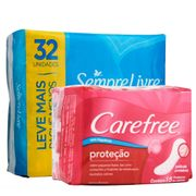 Kit-Absorvente-Sempre-Livre-Adapt-Plus-Cobertura-Seca-Com-Abas-32-Unidades-Protetor-Diario-Carefree-Neutralize-15-Unidades-Pacheco-935125633
