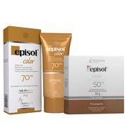 Kit-Episol-Color-Pele-Morena-Po-Compacto-FPS50-10g--Protetor-Solar-facial-FPS70-40g-Pacheco-935125686