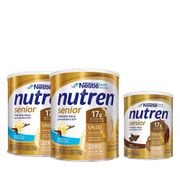 Kit-Suplemento-Alimentar-Nestle-Nutren-Senior-Baunilha-740g-2-Unidades---Chocolate-370g-Pacheco-935125719