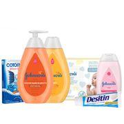 Kit-Johnsons-Sabonete-Liquido-400ml-Shampoo-400ml--Desitin-113g-Lenco-Umedecido-96-Unidades-Cotonete-75-Unidades-Hidratante-200ml-Pacheco-935125775
