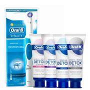 Kit-Oral-B-Escova-Dental-Eletrica-D12-Vitality-110-volts-Gengiva-Detox-102g-Gentle-Whitening-102g-Deep-Clean-102g-Esmalte-Repair-102g-Pacheco-935127514