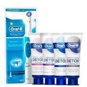 Kit-Oral-B-Escova-Dental-Eletrica-D12-Vitality-220v-Sensitive-Care-102g---Creme-Dental-Gentle-Whitening-102g-Deep-Clean-102g-Esmalte-Repair-102g-Pacheco-935127515