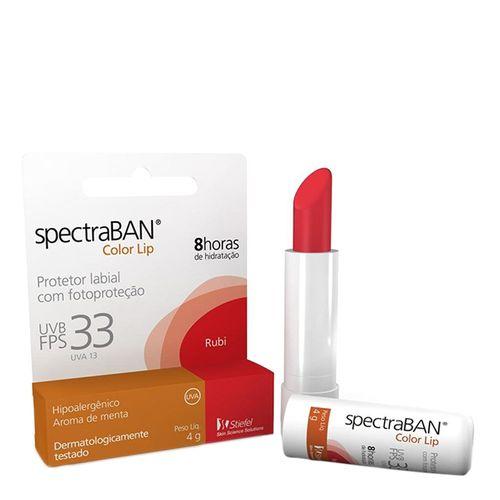 Spectraban Protetor Labial Color Lip Rubi FPS 33 4g