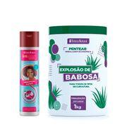 Kit-Beleza-Natural-Shampoo-Classicos-Hidratacao-300ml---Creme-Para-Pentear-Explosao-De-Babosa-1kg-Pacheco