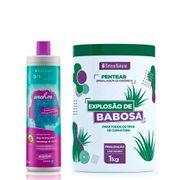 Kit-Beleza-Natural-Shampoo-Cachos-Soltos-300ml---Creme-Para-Pentear-Explosao-De-Babosa-1kg-Pacheco-935127583
