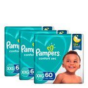 kit-fralda-pampers-confort-sec-tamanho-xxg-60-unidades-3-pacotes-Pacheco-935127685