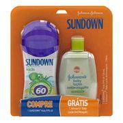 Kit Protetor Solar Sundown FPS 60 120ml + Repelente Jonhson's Baby Loção Antimosquito