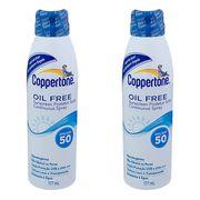 Kit Protetor Solar Coppertone Oil Free Loção Fps 50 177ml 2 Unidades