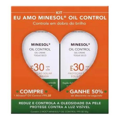 Kit Roc Minesol Protetor Solar Facial Oil Control Toque Seco FPS 30 50g 2 Unidades
