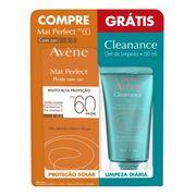 Kit Protetor Solar Facial Avene Mat Perfect Fps60 Com Cor 50ml + Cleanance Gel 60ml