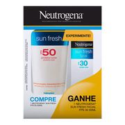Kit Neutrogena Sun Fresh Protetor Solar Corporal FPS 50 200ml + Protetor Facial FPS 30 50ml