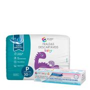Kit-Fralda-Descartavel-Ever-Care-Baby-P-30-Unidades---Creme-Preventivo-de-Assaduras-Ever-Care-120g-Pacheco-935137774