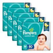 Kit-Fralda-Pampers-Confort-Sec-Bag-Giga-M-80-Unidades-5-Pacotes-Pacheco-935137782