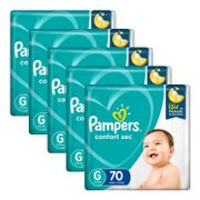 Kit-Fralda-Pampers-Confort-Sec-G-70-Unidades-5-Pacotes-Pacheco-935137782