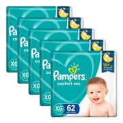 Kit-Fralda-Pampers-Confort-Sec-XG-62-Unidades-5-Pacotes-Pacheco-935137783