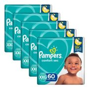 Kit-Fralda-Pampers-Confort-Sec-Tamanho-XXG-60-Unidades-5-Pacotes-Pacheco-935137785