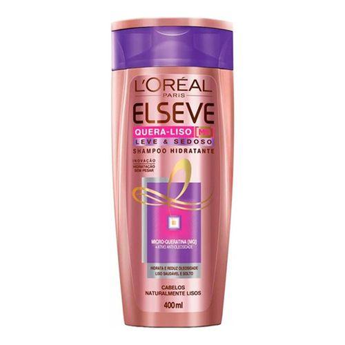 Shampoo Elseve Quera-liso Hidratante Leve e Sedoso 400ml