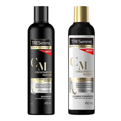 Kit Tresemmé Crescimento Máximo Shampoo 400ml + Condicionador 400ml